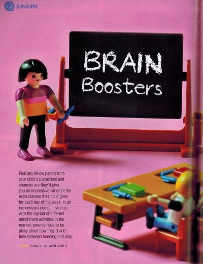 Motherhood Magazine - Brain Booster Pg 1